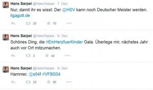 Abb. Auf Twitter trumpht Hans Sarpei meist mit einer Portion Humor