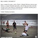 Die Mexikanische Auswahl spielt am Strand in ihren Geschenken