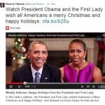 Präsident Obama spricht mit seiner Frau Michelle zum Volk
