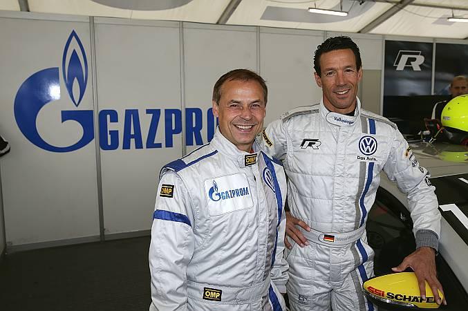 Olaf Thon(links) zusammen mit Manuel Reuter(rechts)