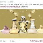 Shakira bewirbt ihr Parfum als Weihnachtsgeschenk